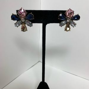 BaubleBar Multi Colored Gem Flower Earrings